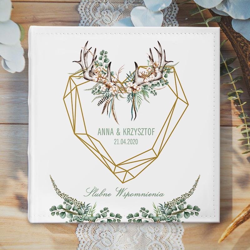 Zdjęcie w galerii - ALBUM ślubny na zdjęcia prezent dla Pary Młodej Boho Wedding