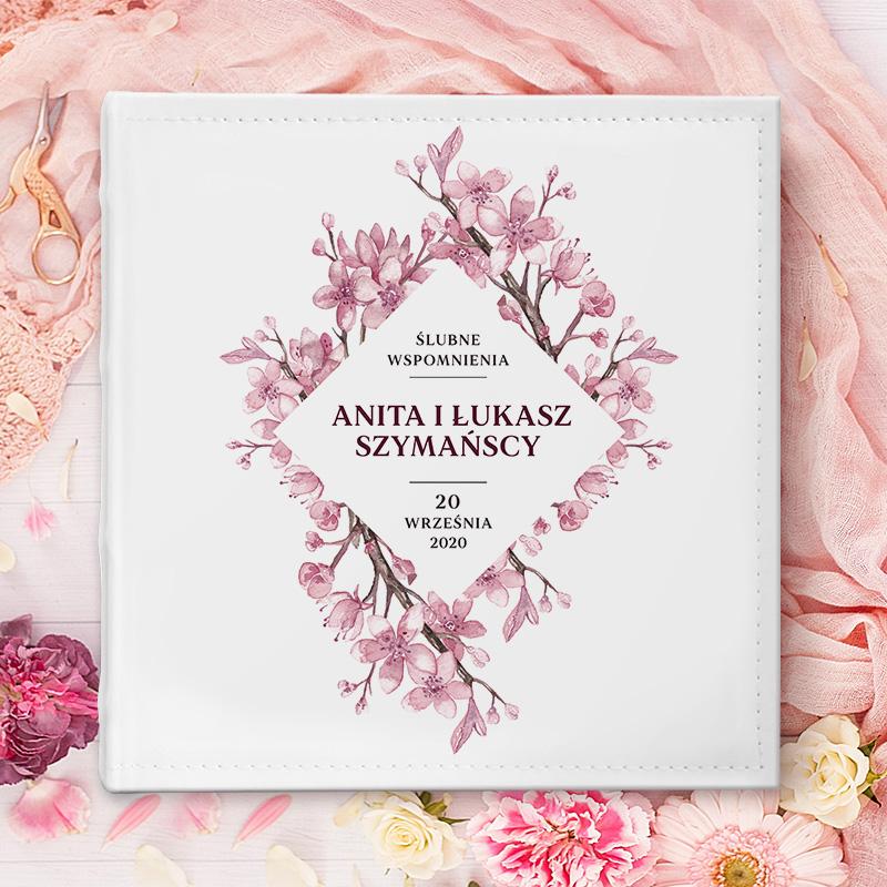 Zdjęcie w galerii - ALBUM Ślubny Na Zdjęcia Prezent Dla Pary Młodej Kwiaty Wiśni PERSONALIZOWANY