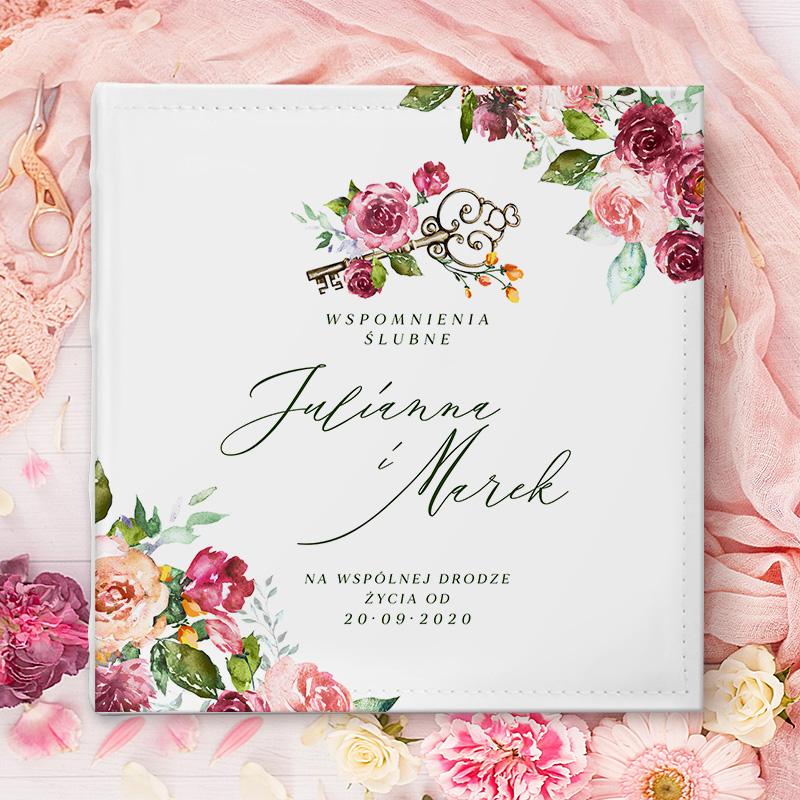 Zdjęcie w galerii - ALBUM ślubny Na Zdjęcia Prezent dla Pary Młodej Klucz do Szczęścia PERSONALIZOWANY