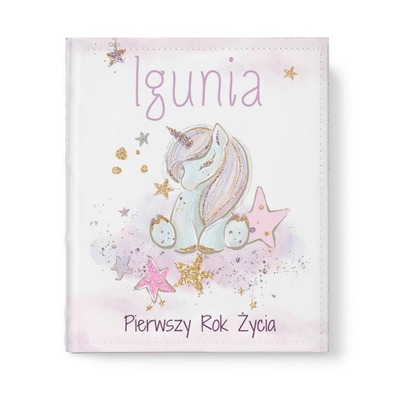Zdjęcie w galerii - Album na zdjęcia Kolorowy Jednorożec Prezent na roczek dla dziewczynki z imieniem  PESONALIZOWANY