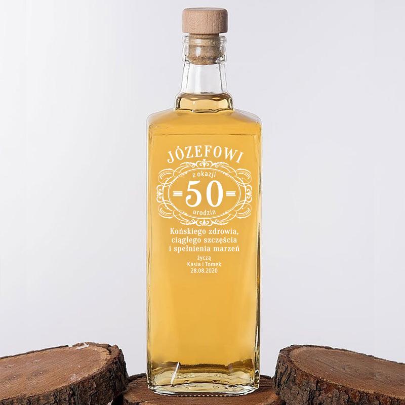 Zdjęcie w galerii - KARAFKA na Alkohol Prezent na Okrągłe Urodziny PERSONALIZOWANA 700ml