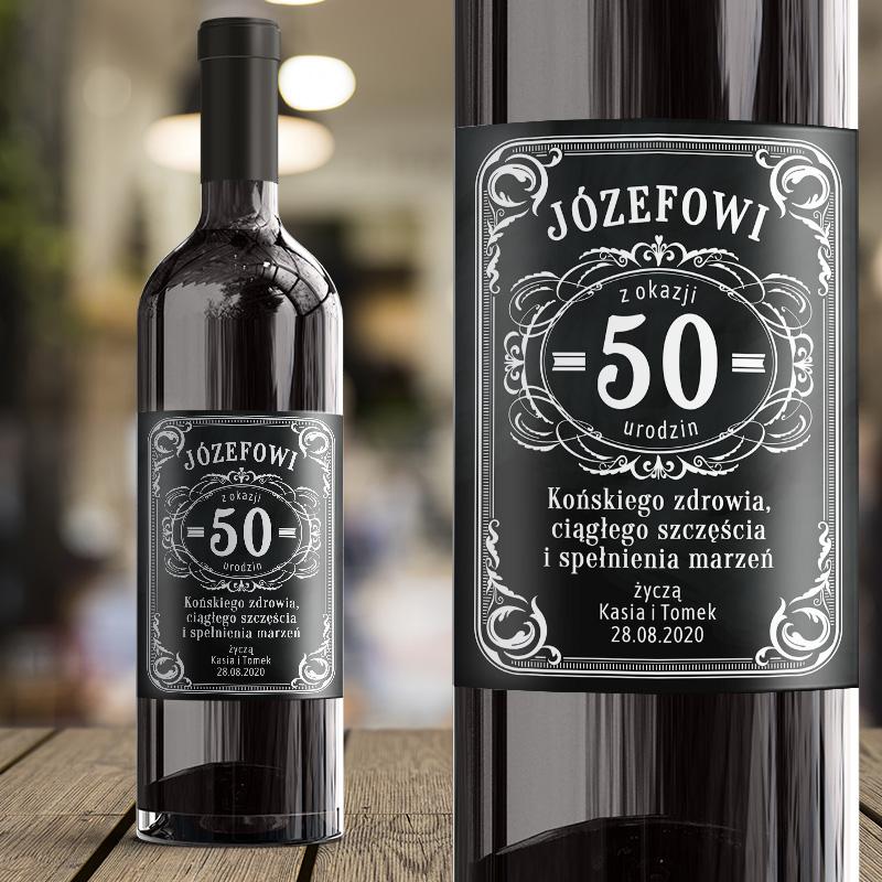 Samoprzylepna etykieta na wino, personalizowana , prezent na urodziny