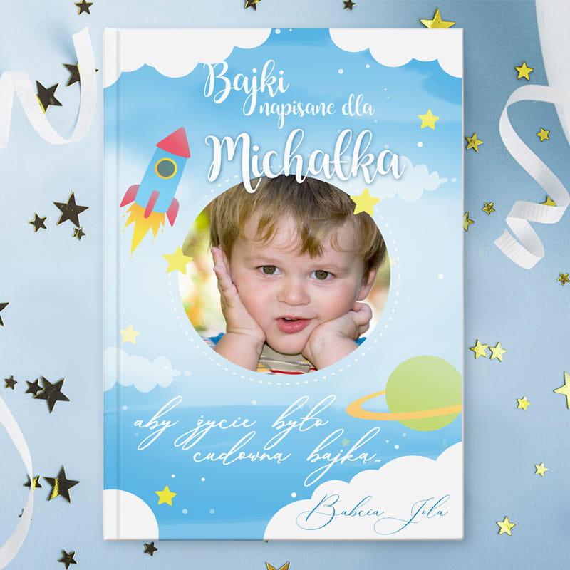 Książeczka z bajkami personalizowana z grafiką ze zdjęciem , idealny prezent dla dziecka na urodzinki, chrzest