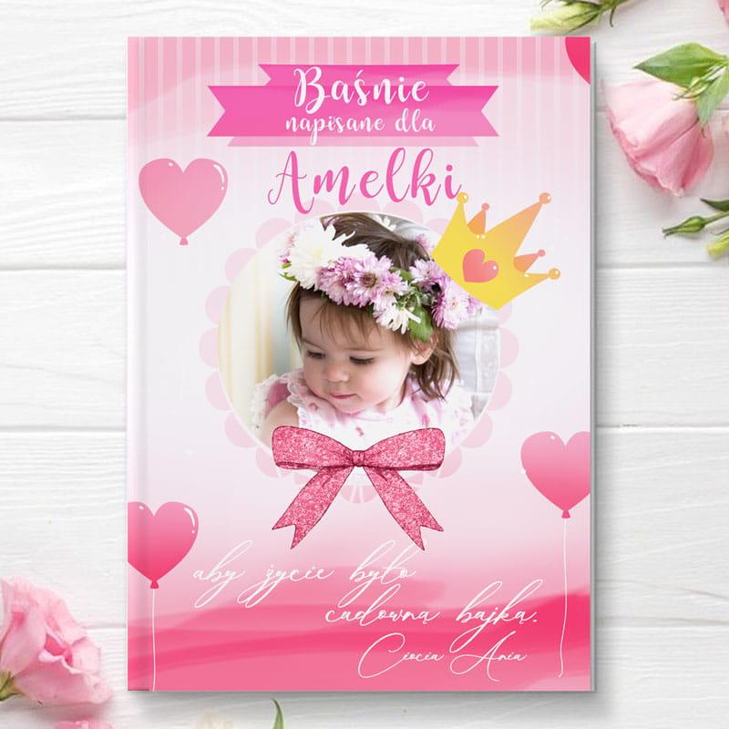 Książeczka z bajkami personalizowana z grafiką ze zdjeciem , idealny prezent dla dziecka na urodzinki, chrzest