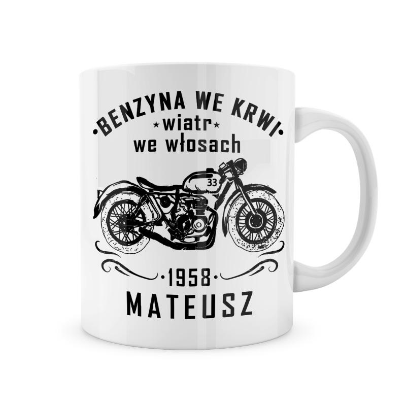 Zdjęcie w galerii - KUBEK dla Motocyklisty Benzyna we Krwi Wiatr we Włosach PERSONALIZOWANY