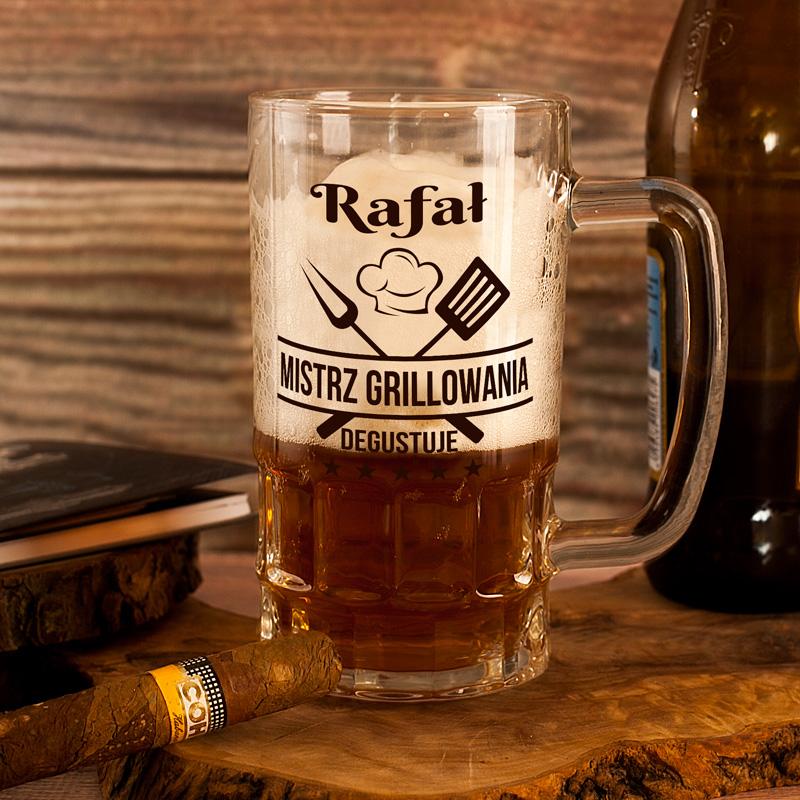 Zdjęcie w galerii - KUFEL do Piwa Mistrz Grillowania Degustuje PERSONALIZOWANY