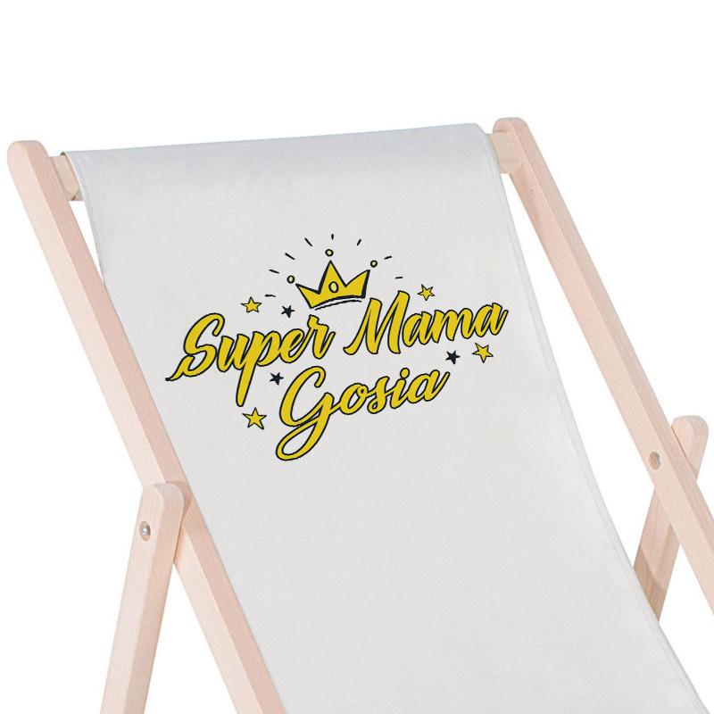 Zdjęcie w galerii - LEŻAK Super Mama Prezent Dla Mamy PERSONALIZOWANY