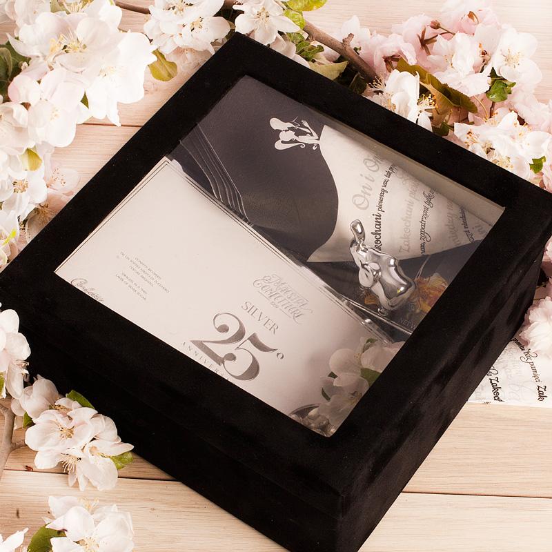 Zdjęcie w galerii - Zestaw 25 Srebrne Gody Rocznica Ślubu prezent Exclusive Silver