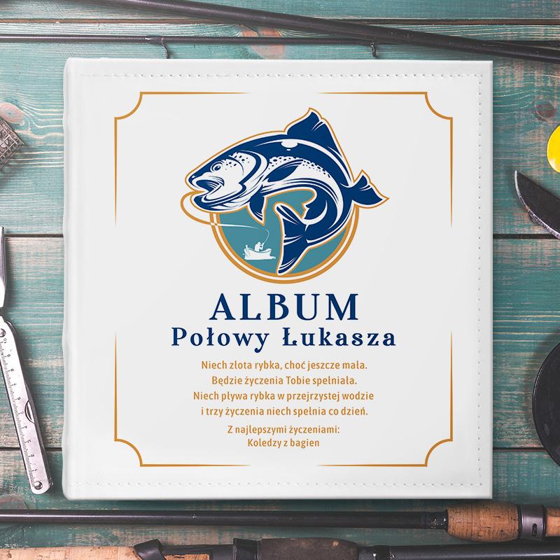 Zdjęcie w galerii - ALBUM na zdjęcia prezent dla Wędkarza PERSONALIZOWANY