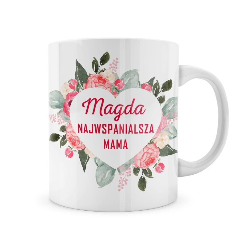 Zdjęcie w galerii - KUBEK prezent Najwspanialsza Mama Serce PERSONALIZOWANY