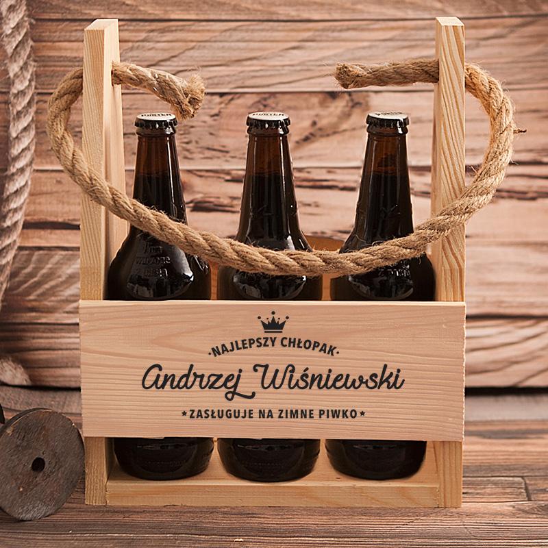 Zdjęcie w galerii - NOSIDŁO na 6 Piw Najlepszy Chłopak Zasługuje na Piwko PERSONALIZOWANE