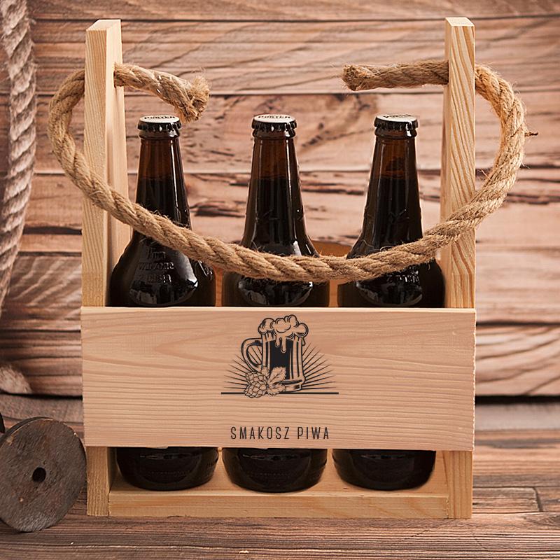 Zdjęcie slidera - NOSIDŁO na 6 Piw Kufel Prezent Dla Smakosza PERSONALIZOWANE