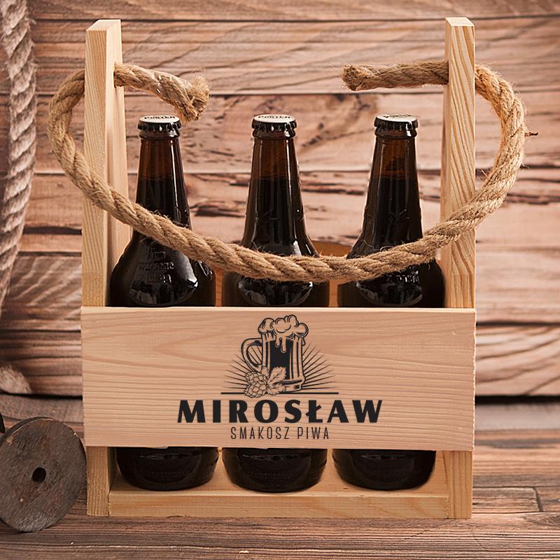 Zdjęcie w galerii - NOSIDŁO na 6 Piw Kufel Prezent Dla Smakosza PERSONALIZOWANE