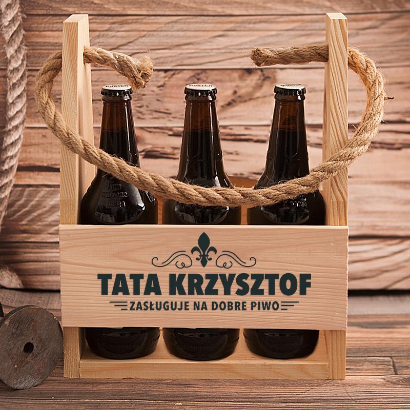 Zdjęcie w galerii - NOSIDŁO na 6 Piw Tata Zasługuje Na Dobre Piwo PERSONALIZOWANE