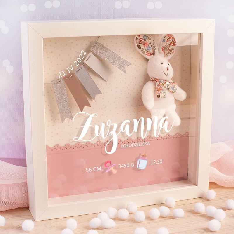 Ramka z metryczką dla dziewczynki. Oryginalny pomysł na prezent dla dziewczynki.