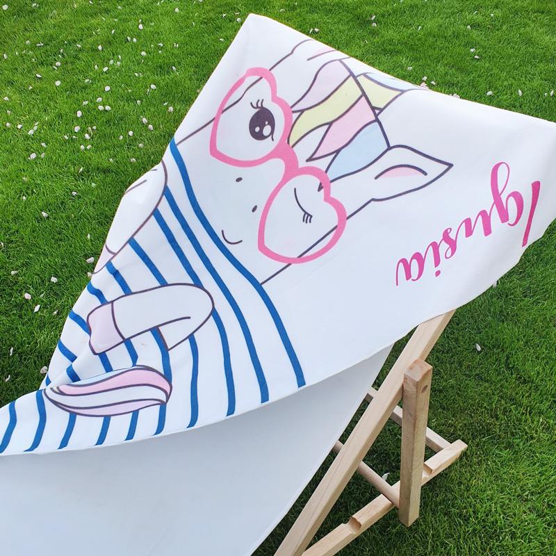 Zdjęcie w galerii - Ręcznik Magiczny Jednorożec PERSONALIZOWANY