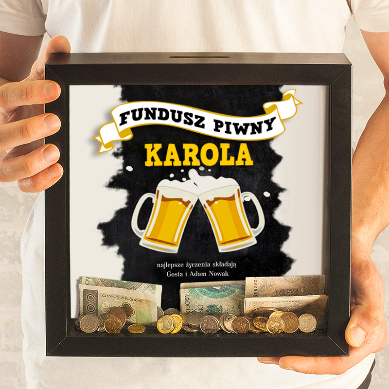 Zdjęcie w galerii - SKARBONKA 3D Prezent na urodziny Fundusz Piwny PERSONALIZOWANA