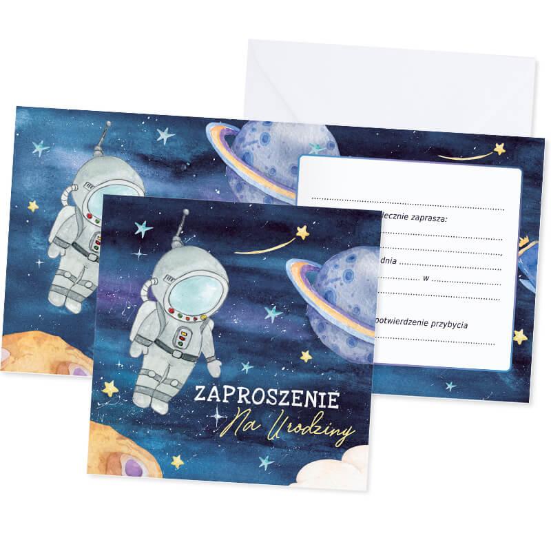 Zdjęcie w galerii - ZAPROSZENIA na Urodzinki Kosmos 10szt +koperty