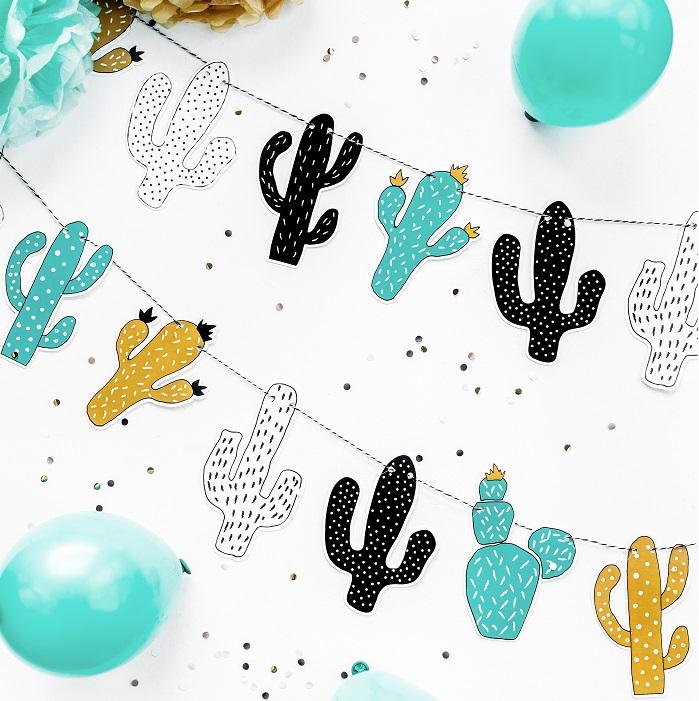 Girlanda kolorowe kaktusy