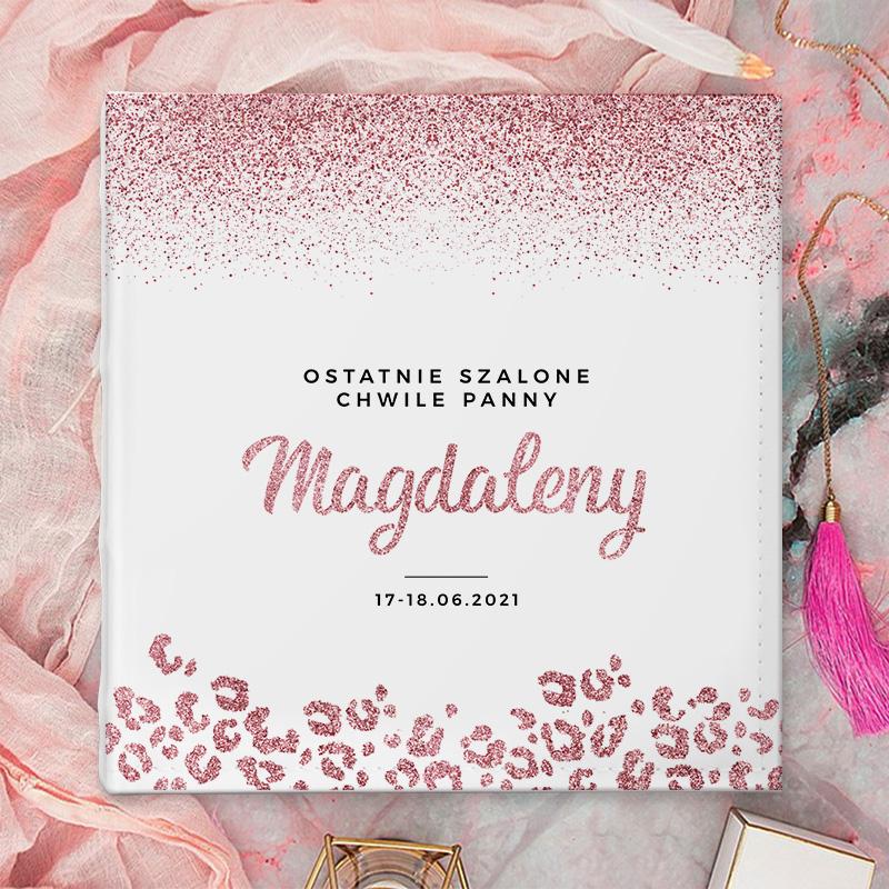 Zdjęcie w galerii - ALBUM na zdjęcia prezent na Panieński Glittery Rosegold z IMIENIEM