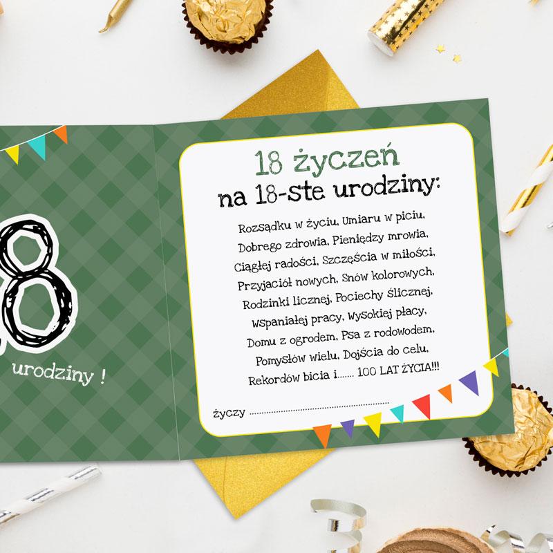 Zdjęcie w galerii - KARTKA urodzinowa na 18 urodziny Leniwiec Wszystko Możesz +koperta