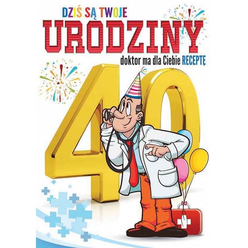 Zdjęcie w galerii - KARNET z życzeniami Dziś są Twoje 40 urodziny MEGA DUŻY