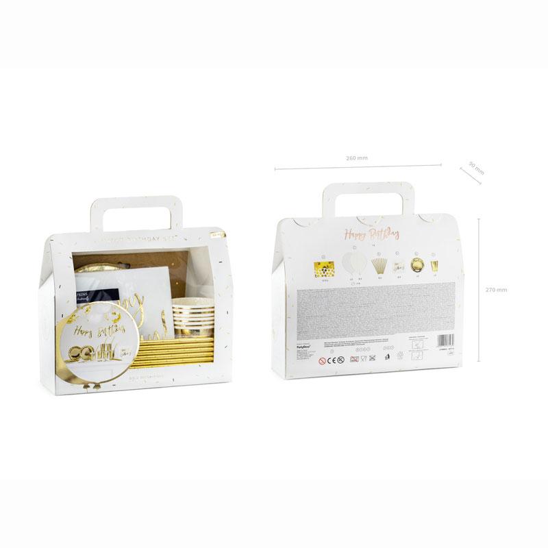 Zdjęcie w galerii - ZESTAW Dekoracji Na Przyjęcie Party Box Złoty