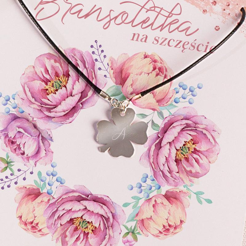 Zdjęcie w galerii - BRANSOLETKA Pozłacana z Grawerem PREZENT Na Szczęście Sweet Flowers