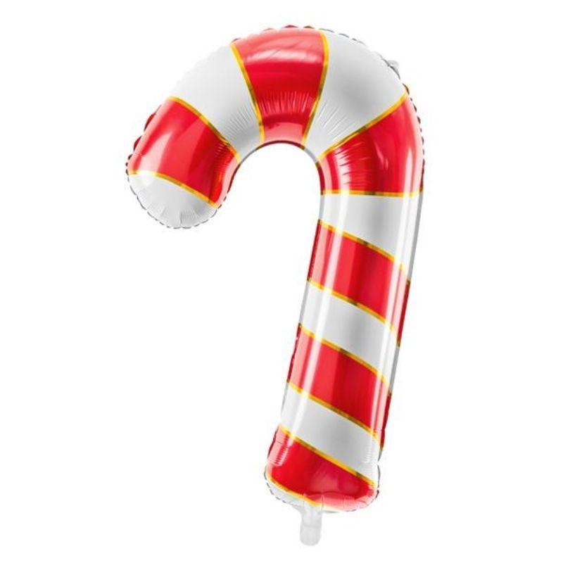 Foliowy balon w postaci cukierka to doskonały pomysł na świąteczną dekorację.