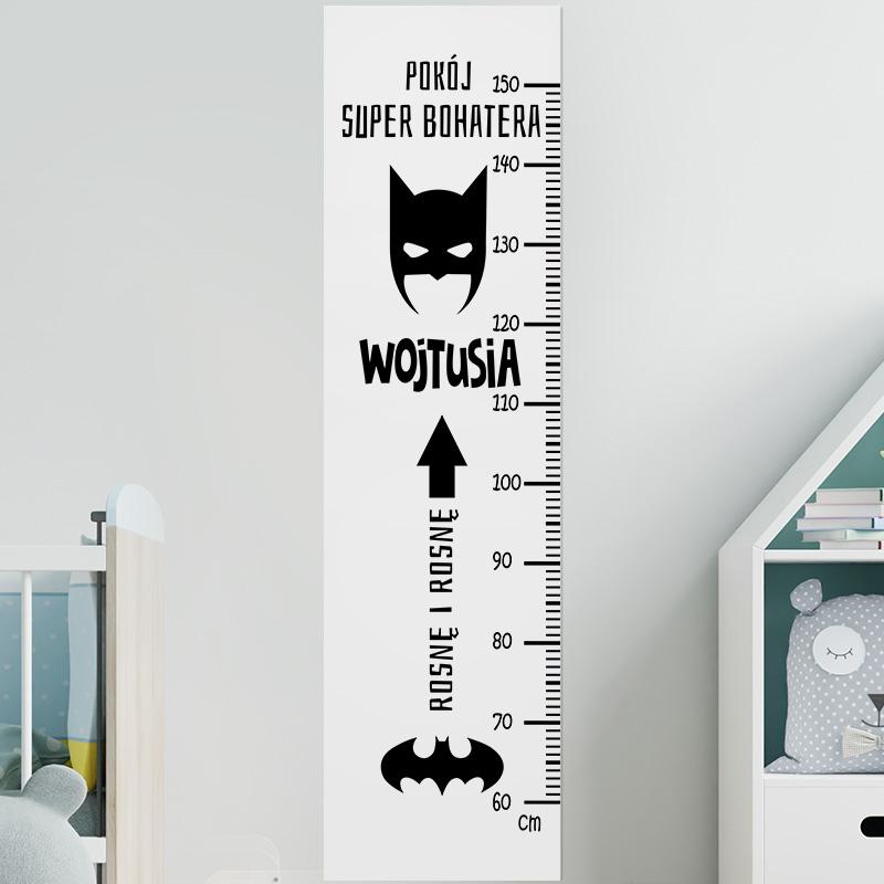 Zdjęcie w galerii - MIARKA Wzrostu Prezent Dla Dziecka Batman PERSONALIZOWANA