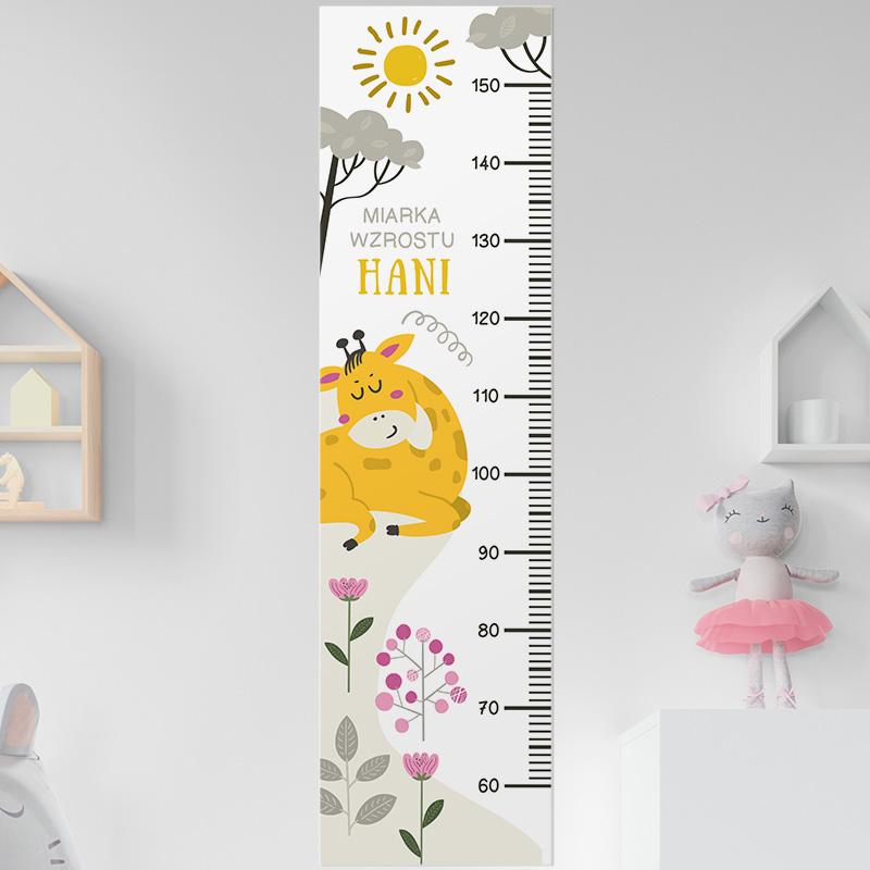 Zdjęcie w galerii - MIARKA Wzrostu Prezent Dla Dziecka Żyrafa PERSONALIZOWANA