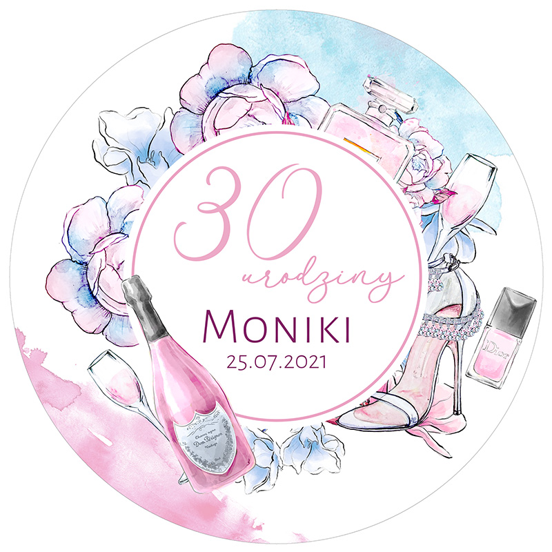 Zdjęcie w galerii - Opłatek na tort na 30 urodziny PERSONALIZOWANY