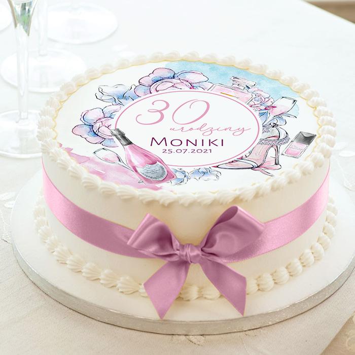 Opłatek na tort z okazji 30 urodzin