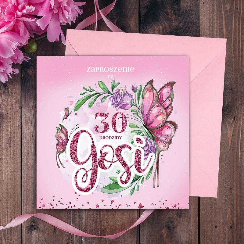 Zaproszenia z tą przepiękną grafiką to idealny sposób na poinformowanie Twoich gości o zbliżających się urodzinach.
