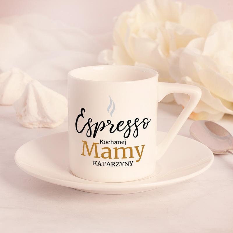 Filiżanka do espresso z personalizacją. Idealny prezent na urodziny, imieniny, dzień Mamy, czy kobiet!
