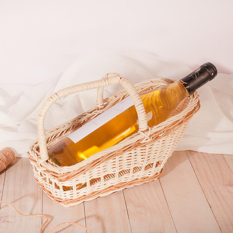 Zdjęcie w galerii - KOSZYK Wiklinowy Prezentowy Na Alkohol/Miód