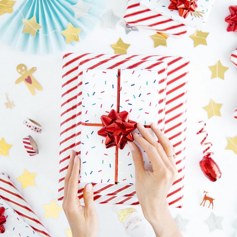 Zdjęcie w galerii - PAPIER Do Pakowania Świąteczny w Paski