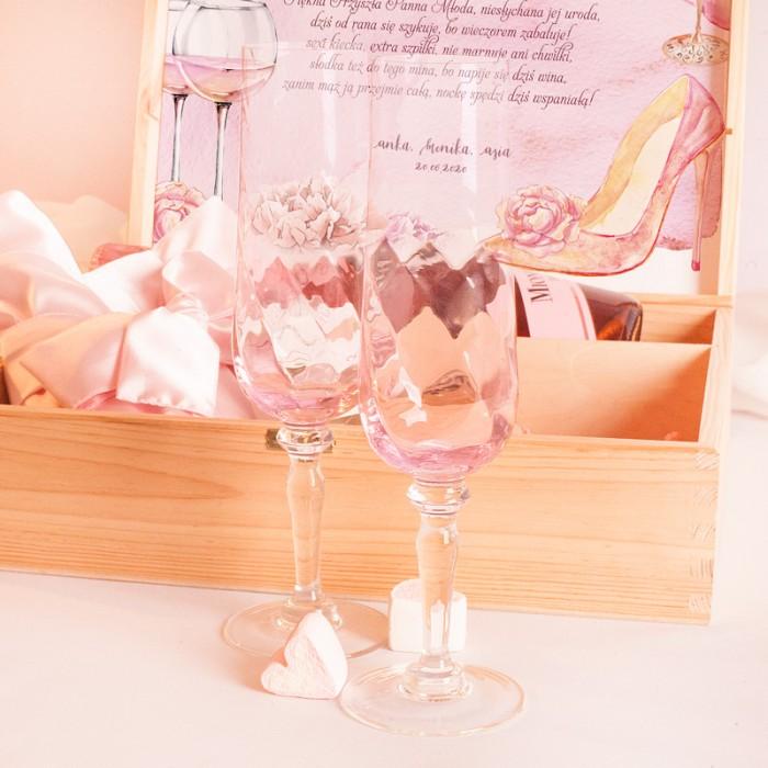 Zdjęcie w galerii - SKRZYNIA Prezent Na Wieczór Panieński Pink Prosecco