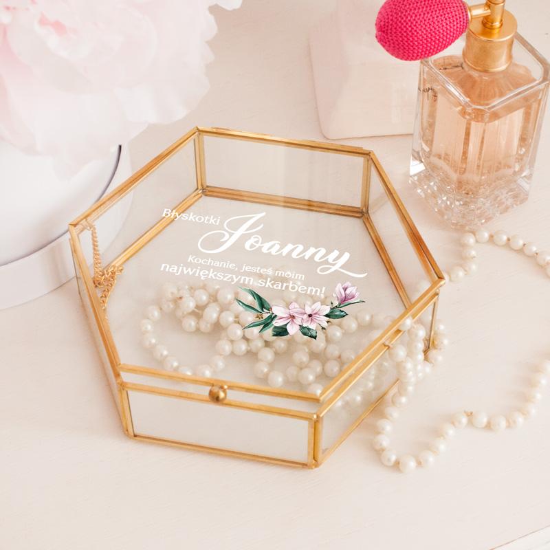 Personalizowana skarbonka szklana z imieniem kobiety, idealny prezent na wiele okazji.