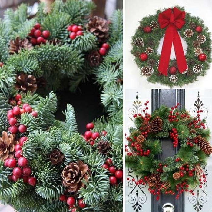 Zdjęcie w galerii - WIANEK świąteczny jodłowy Ø 26cm Naturalny DUŻY!