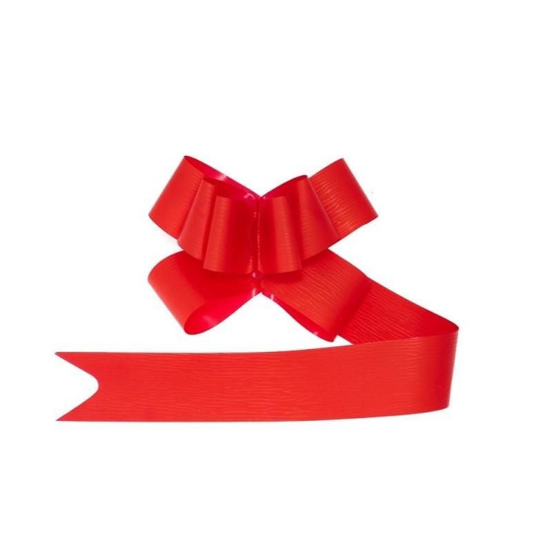 Wstążka czerwona do prezentów ze ściągaczem