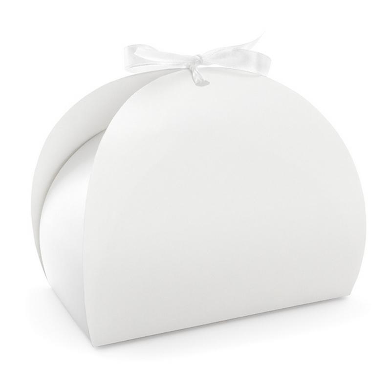 Zdjęcie w galerii - PUDEŁKA prezentowe Białe ze Wstążką 10szt