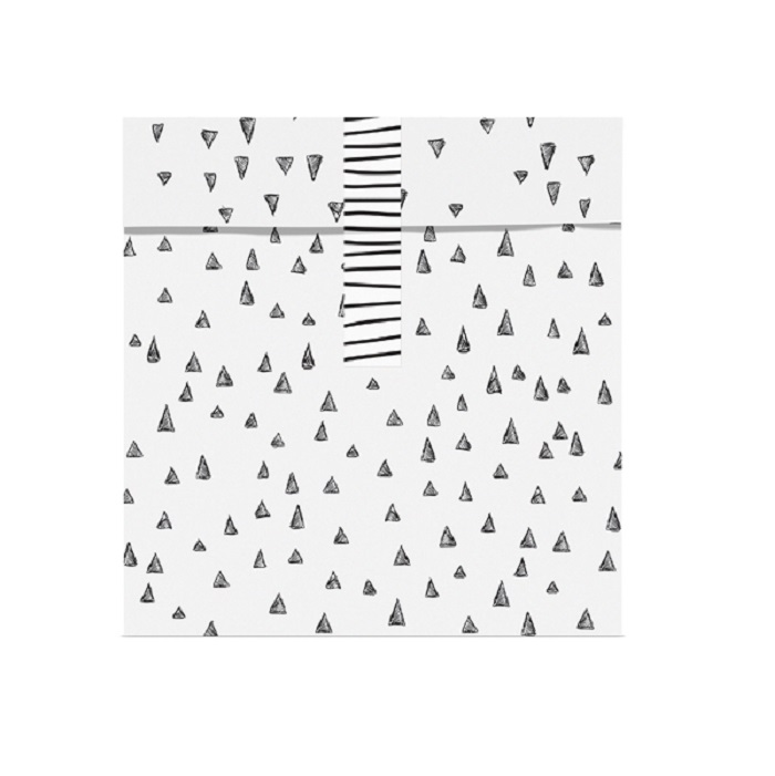 Zdjęcie w galerii - TOREBKI papierowe na upominki biało-czarne 6szt + naklejki