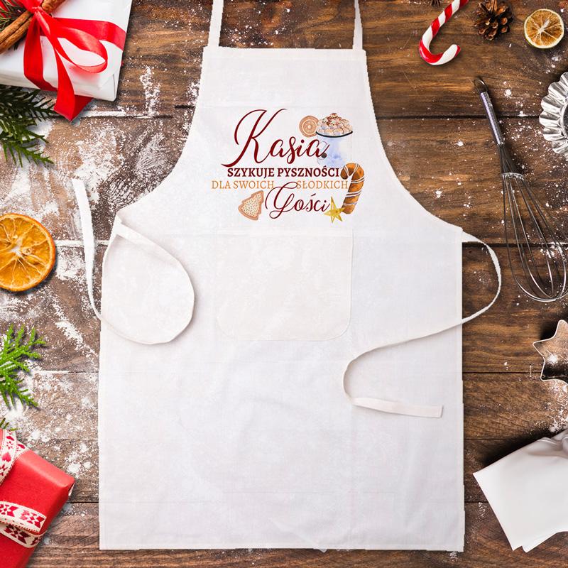 Zdjęcie slidera - FARTUCH kucharski Świąteczne Pyszności dla Gości z IMIENIEM