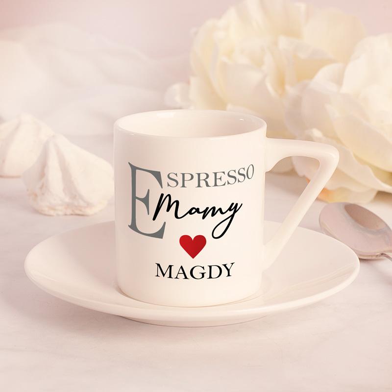 Zdjęcie w galerii - FILIŻANKA Ze Spodkiem Do Espresso Personalizowana Mama/Tata