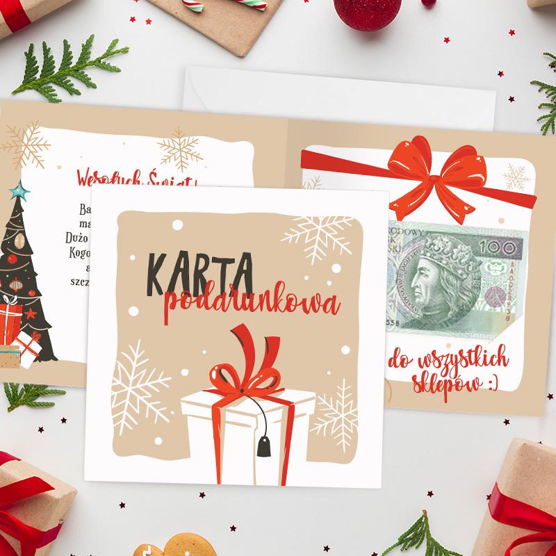 Karta podarunkowa świąteczna to wyjątkowy prezent świąteczny.