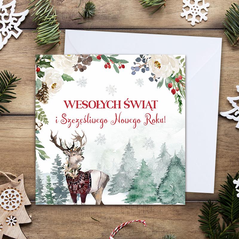 Kartka świąteczna z życzeniami to wyjątkowy prezent dla bliskiej osoby.