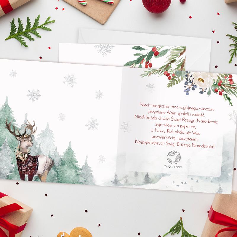 Zdjęcie w galerii - KARTKA Świąteczna Z Życzeniami Magia Świąt Twoje LOGO/Podpis