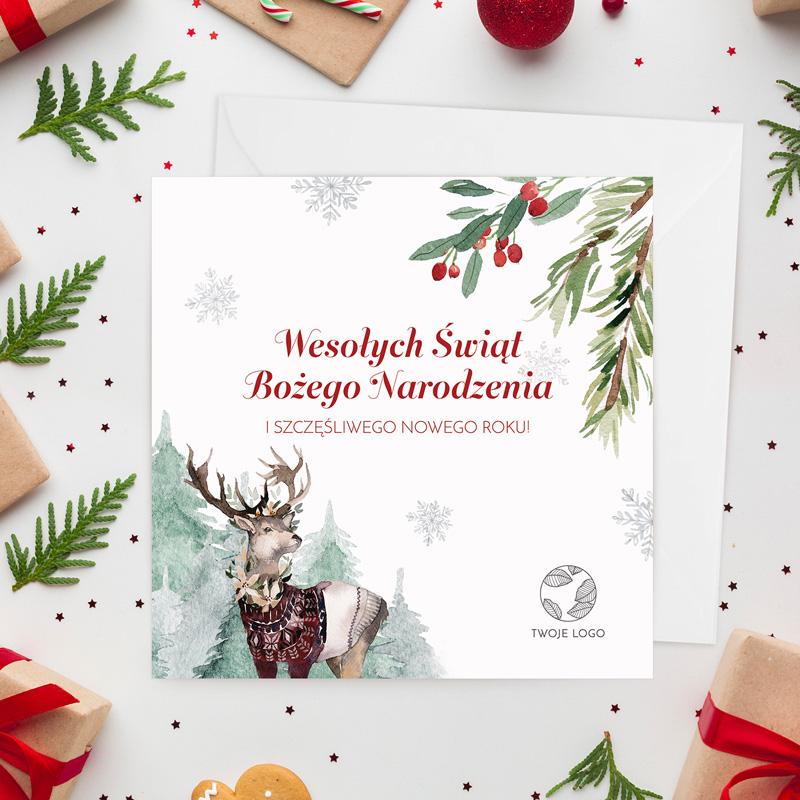 Kartka świąteczna z życzeniami to idealny prezent na Święta Bożego Narodzenia.