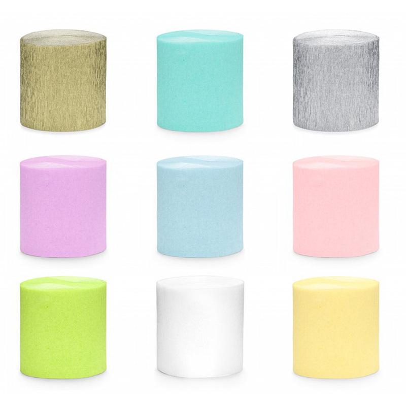 Kolorowa krepa do wypełnienia skrzynek z prezentem. Kolory do wyboru. Kolorowy dodatek do prezentów.